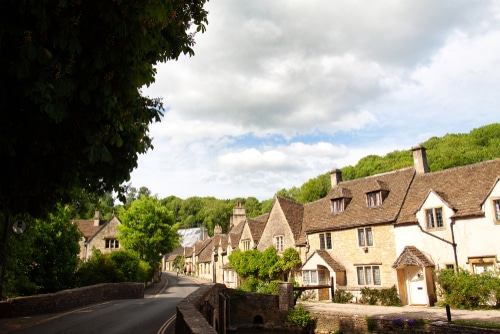 Castle Combe near Chippenham in Wiltshire