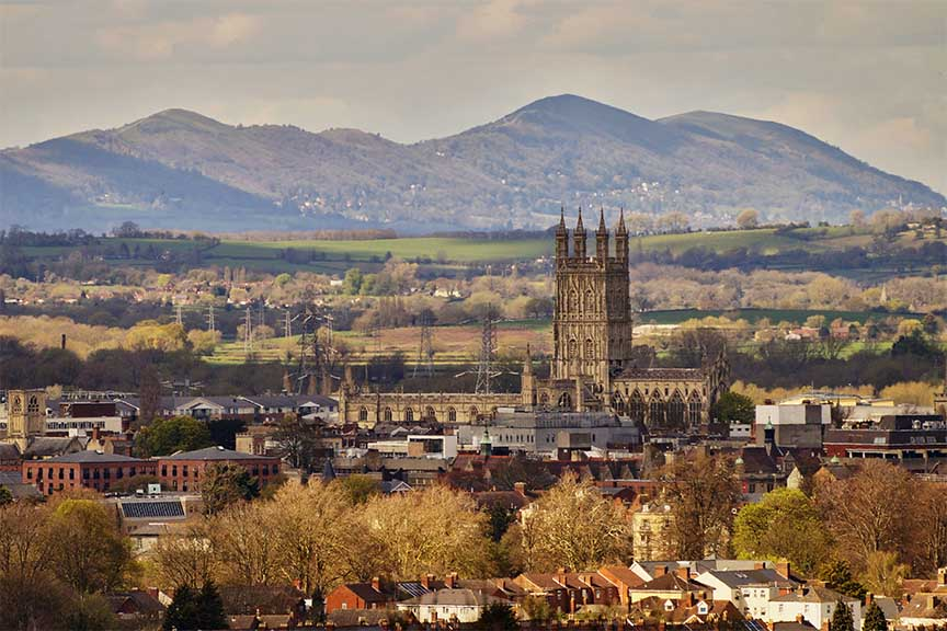 view of glos cathedral